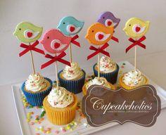 Rainbow Bird Cupcakes   Flickr: Intercambio de fotos