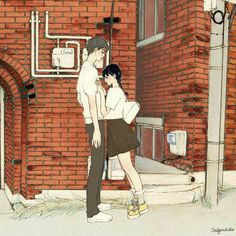 Find images and videos on We Heart It - the app to get lost in what you love. Anime Illustration, Couple Illustration, Character Illustration, Couple Sketch, Couple Drawings, Couple Art, Art Manga, Anime Art, Art Journal Pages