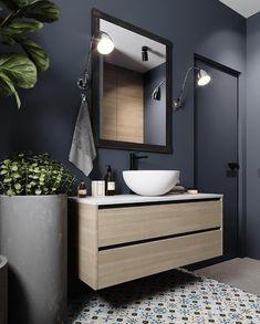 30 Quick and Easy Bathroom Decorating Ideas Stone Bathroom Sink, Best Bathroom Vanities, Best Bathroom Designs, Modern Bathroom, Washroom Design, Bathroom Interior Design, Interior Design Living Room, Bathroom Fan Light, Modern Rustic Decor