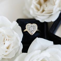 Beautiful Engagement Rings, Vintage Engagement Rings, Beautiful Rings, Diamond Engagement Rings, Diamond Cluster Ring, Diamond Heart, Diamond Cuts, Royal Rings, Vintage Diamond