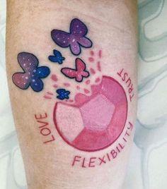 u/justhitdelete's Steven Universe tattoo - New Ideas Mini Tattoos, Body Art Tattoos, New Tattoos, Cool Tattoos, Tatoos, Finger Tattoos, Sleeve Tattoos, Steven Universe Tattoos, Perla Steven Universe