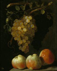 """""""Bodegón de uvas y manzanas"""" Juan de Espinosa, S XVII"""