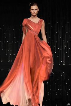 Jean Fares- looove the color and draping. :)  one of my favourite type of dress.