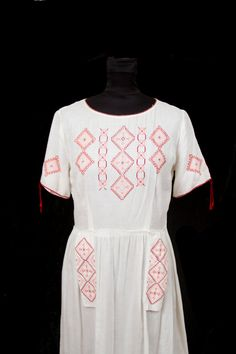 Must have! 1920's Dress // Hungarian Embroidered Cross Stitch Dress on Etsy, $345.00