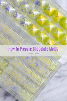 A simple tutorial on How To Prepare Chocolate Molds for shiny bonbons and bars. A simple tutorial on How To Prepare Chocolate Molds for shiny bonbons and bars. Chocolate Work, Chocolate Sweets, Chocolate Filling, How To Make Chocolate, Chocolate Making, Homemade Chocolate Bars, Chocolate Ganache, How To Temper Chocolate, Chocolates Gourmet
