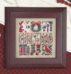 The Drawn Thread ~ Christmas Baskets – Down Sunshine Lane Quilt Stitching, Cross Stitching, Cross Stitch Embroidery, Stitching Patterns, Quilting, Easy Cross Stitch Patterns, Simple Cross Stitch, Christmas Baskets, Christmas Ideas