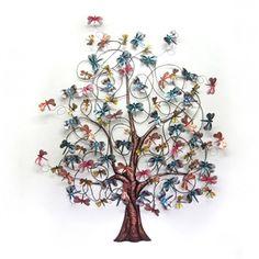 Dragonfly Tree Metal Wall Art