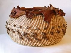 Pine Needles Braceles | Pine needle basket by artist Virginia Nebenzahl
