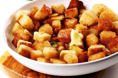 Day-Old Bread Gains New Life With This Crispy Garlic Parmesan Crouton Recipe