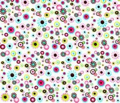 Pretty Flowers fabric by toadandlily on Spoonflower - custom fabric
