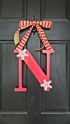 The CUTEST Monogram Wreath Monogram Christmas by MadeByThomasB