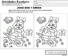 Atividades para Crianças: Jogo dos 7 erros para imprimir