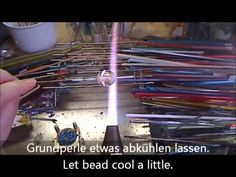 Fritten-Latticinoperle - Frit-latticino bead - a very good tutorial!!!!