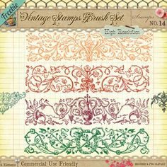 Vintage Book Illustrations Free Clipart with Brushes, Vectors & Shapes
