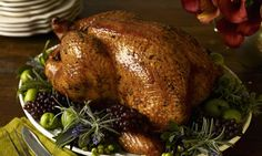 Roast turkey, Apricot and Ginger Stuffing. Photograph: Getty Images