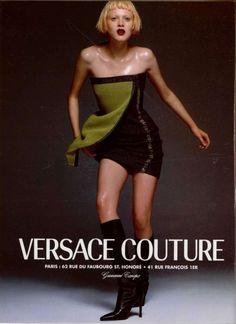 VERSACE 1997 Karen Elson By Richard Avedon