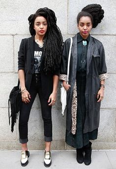 Think you know what New York cool girl style is like? Think again - and check out the Quann sisters, TK Wonder and Cipriana, founder of Urban Bush Babes and our incoming style crushes. Black Girl Fashion, Look Fashion, Fashion News, Look Street Style, Street Chic, Black Girls Rock, Black Girl Magic, Quann Sisters, Cipriana Quann