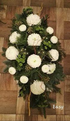 Casket Sprays, Florists, Ikebana, Altar, Funeral, Floral Arrangements, Christmas Wreaths, Halloween, Holiday Decor