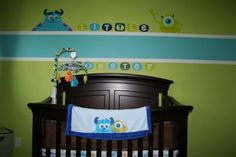 Monsters Inc nursery that my husband designed!