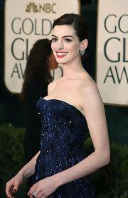 Anne Hathaway Gemstone Hoops