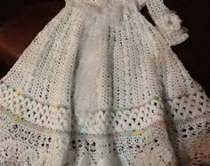 5 crochet patterns of christening gowns at a par PatternsbyHalina