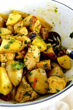 Curried Grilled Chicken Potato Salad by The Woks of Life