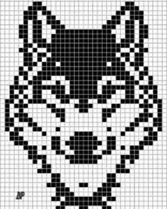 Thrilling Designing Your Own Cross Stitch Embroidery Patterns Ideas. Exhilarating Designing Your Own Cross Stitch Embroidery Patterns Ideas. Bead Loom Patterns, Beading Patterns, Embroidery Patterns, Crochet Chart, Filet Crochet, Pixel Art Loup, Knitting Charts, Knitting Patterns, Cross Stitch Charts