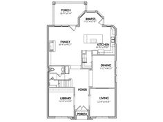 Traditional house plan Level 1