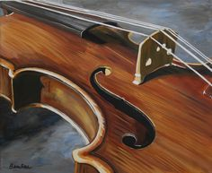 Painting of a violin