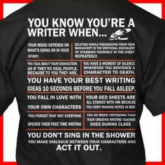 you know you're a writer
