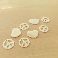 Paz / Coração em Madrepérola