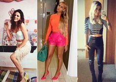 Bruna Marquezine, Beyoncé e Luiza Possi. Fotos: Reprodução/Instagram