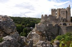 Angles-sur-Anglin, Vienne, France. The castle in ruins.