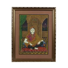 Miniature Painting on Paper of Traditional Indian lady with hookah, gift, home decor, Indian art, Indian handicraft by VirasatArtAndCraft on Etsy Traditional Decor, Traditional House, Cardboard Design, Fine Paper, Indian Art, Handicraft, Miniatures, Rustic, Lady