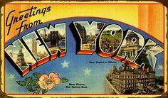 State Postcard, New York
