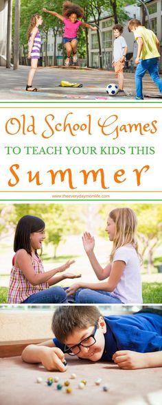 12 Old School Games To Teach Your Kids This Summer #momlife #parenting #games #gamesforkids #summer #kids