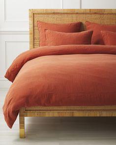 Orange Bedding, Bedroom Orange, Red Bedding, Coral Bedroom, Best Duvet Covers, Full Duvet Cover, Home Design, Interior Design, Cottage