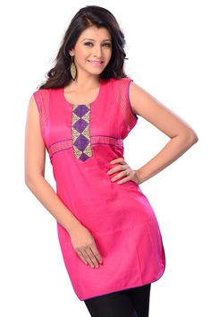 Lovely #PartyWear Pink Color Pure Cotton #Kurti