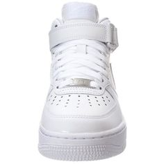 Nike Sportswear AIR FORCE 1 '07 MID ❤ liked on Polyvore featuring shoes, sneakers, nike, high top shoes, nike trainers, white high top shoes, white high tops and nike shoes