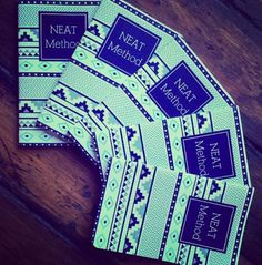 May Designs custom notebooks - we are absolutely obsessed with our NEAT Method #navajo patterned ones!