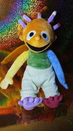 Eebees Adventures FAO Schwarz Stuffed Plush Teaching doll Bright Multicolored  #FAOSchwarz #eebees #eebeesadventures #autismtoys #plush #therapytoys Stuffed Animals, Dinosaur Stuffed Animal, Misfit Toys, Learning Toys, Plushies, Guy, Bright, Teaching