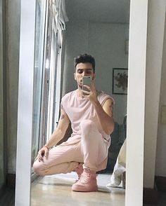 Update: on Saturdays we wear pink. #vsco #vscocam #boy #pink #white