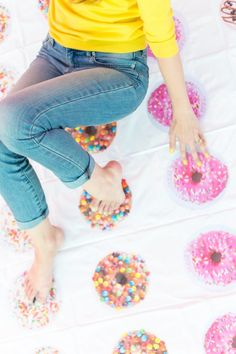 DIY Donut Twister for your national donut day celebration