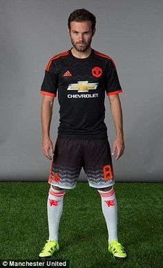 Spain international Juan Mata also pulled a serious pose
