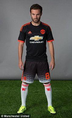 Spain international Juan Mata also pulled a serious pose