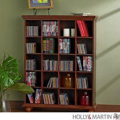 Holly & Martin Adams Four-Column Media Storage Shelf
