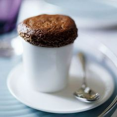 Chocolate Ganache Souffles With just four ingredients, these mini souffles are actually quite simple to prepare. Present them with a luscious mound of whipped cream, and watch your dinner guests swoon.
