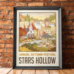 "Stars Hollow ""Autumn Festival"" Travel Poster - Inspired by Gilmore Girls"