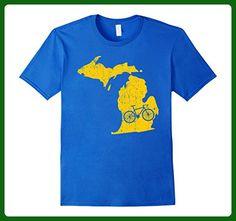Mens Michigan Home State Bike   Ann Arbor   Cycling Gift & Shirt 2XL Royal Blue - Sports shirts (*Amazon Partner-Link)