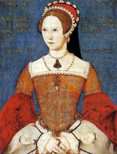 A portrait of Queen Mary I of England.    Jane Seymour was always sympathetic to her former mistress, Catherine of Aragon, and allowed herself to become the figurehead of the faction aiming to topple Queen Anne Boleyn from her throne.     Jane made friends with Mary before she became Queen, and helped to bring her back into Henry VIII's favor after she married him.